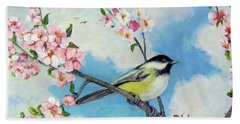 Beach Towel featuring the painting Spring's Promise by Donna Tucker