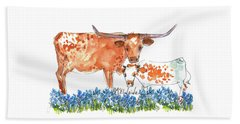 Springs Surprise Watercolor Painting By Kmcelwaine Beach Towel