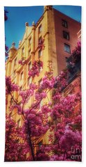 Springtime In New York - Pretty In Pink Beach Towel by Miriam Danar