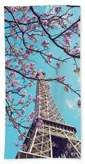 Springtime In Paris - Eiffel Tower Photograph Beach Sheet by Melanie Alexandra Price