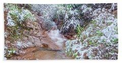 Springtime In The Colorado Rockies Implies Heavy, Slushy Snow, And Lots Of It. Beach Towel