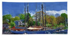 Springtime In The Harbor Beach Towel