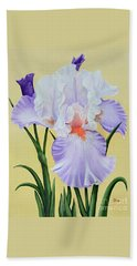 Beach Towel featuring the painting Springtime Iris by Jimmie Bartlett