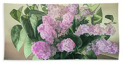 Springtime Lilacs Beach Towel by Luther Fine Art