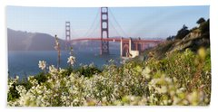 Beach Towel featuring the photograph Springtime On The Bay by Everet Regal