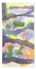 Beach Towel featuring the painting Springtime Wildflower Camouflage  by Kip DeVore