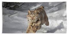 Sprinting Lynx Beach Towel