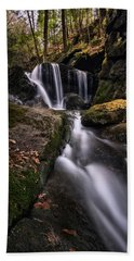 Sprucebrook Falls In Beacon Falls, Ct Beach Towel