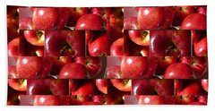 Square Apples Beach Towel