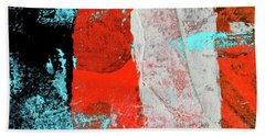 Beach Towel featuring the mixed media Square Collage No. 9 by Nancy Merkle