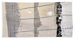 Beach Towel featuring the painting Square Study Project 2 by Michelle Calkins