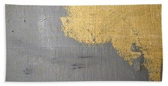 Beach Towel featuring the painting Square Study Project 6 by Michelle Calkins