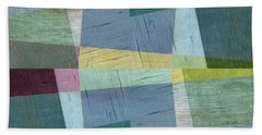Beach Towel featuring the digital art Squares And Shims by Michelle Calkins