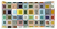 Squares In Squares Three Beach Sheet by Michelle Calkins