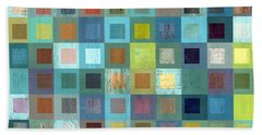 Squares In Squares Two Beach Sheet by Michelle Calkins