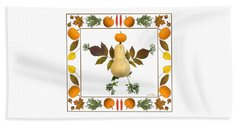 Beach Towel featuring the digital art Squash With Pumpkin Head by Lise Winne