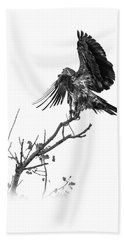 Squaw Creek Red-tail Beach Towel