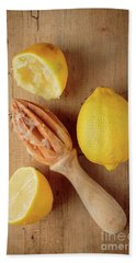 Squeezed Lemons Beach Towel