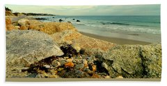 Squibby Cliffs And Mackerel Sky Beach Towel