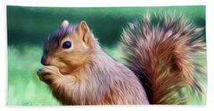 Squirrel Oil Paint Filter 72516 Beach Towel