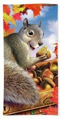 Squirrel Treasure Beach Towel