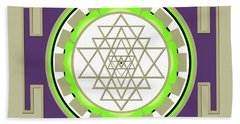 Sri Yantra Of Prosperity Beach Sheet