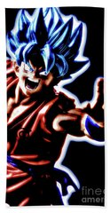 Ssjg Goku Beach Towel