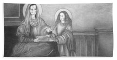 St. Anne And Bvm Beach Towel