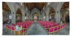 Beach Towel featuring the photograph St Asaph Cathedral by Ian Mitchell