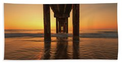 St Augustine Beach Pier Morning Light Beach Towel