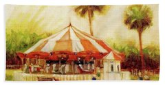 St. Augustine Carousel Beach Towel by Mary Hubley