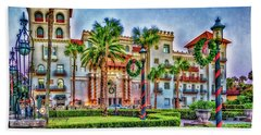 St. Augustine Downtown Christmas Beach Towel