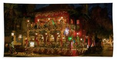 Beach Towel featuring the photograph  St. Augustine Meehan's Pub by Louis Ferreira