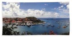 Beach Sheet featuring the photograph St. Barths Harbor At Gustavia, St. Barthelemy by Lars Lentz
