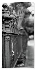 St. Charles Ave Wrought Iron Fence Beach Towel