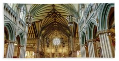 St Dunstan's Cathedral  Beach Towel