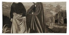 St. John And Blessed Mother At The Tomb Beach Sheet