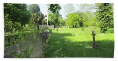 St. Johns Parish Church Cemetery - Harrow Road - Wembley Beach Towel by Mudiama Kammoh