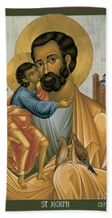 St. Joseph Of Nazareth - Rljnz Beach Towel
