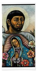 St. Juan Diego And The Virgins Image - Jljdv Beach Sheet