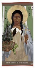 St. Kateri Tekakwitha Of The Iroquois - Rlktk Beach Towel