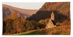 Beach Towel featuring the photograph Morning At Glendalough, County Wicklow - Ireland by Barry O Carroll