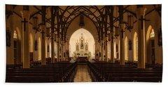 St. Louis Catholic Church Of Castroville Texas Beach Towel