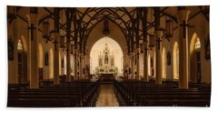 St. Louis Catholic Church Of Castroville Texas Beach Sheet