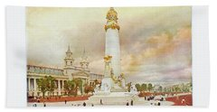 St. Louis World's Fair Louisiana Purchase Monument Beach Sheet by Irek Szelag