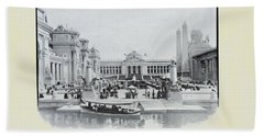 St. Louis World's Fair The Sunken Garden Beach Sheet by Irek Szelag