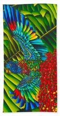 Amazona Versicolor - Exotic Bird Beach Towel