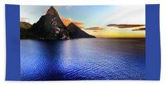 Beach Sheet featuring the photograph St. Lucia's Cobalt Blues by Karen Wiles