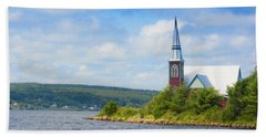 St Marks In Middle Lahave Nova Scotia Beach Towel by Ken Morris