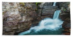 Beach Towel featuring the photograph St. Mary Falls by Gary Lengyel